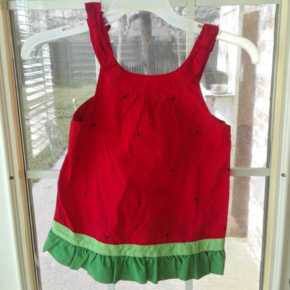 Gymboree Other - Gymboree NEW Watermelon Ruffle Tank Top sz 8
